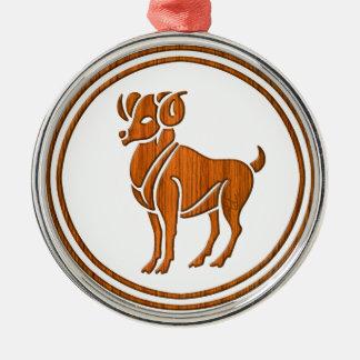 Símbolo de madeira cinzelado do zodíaco do Aries Enfeites Para Arvores De Natal