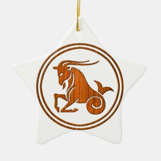Símbolo de madeira cinzelado do zodíaco do ornamento de cerâmica estrela