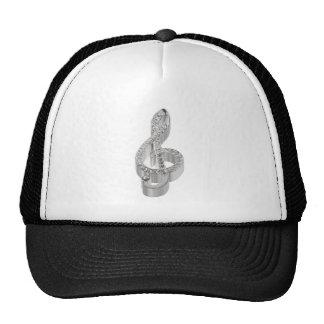 Símbolo de música 3D Gclef Boné