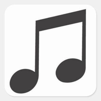 Símbolo de música adesivo quadrado