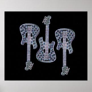 Símbolo de música da guitarra poster