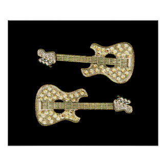 Símbolo de música da guitarra posters