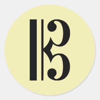 Símbolo de música do C-Clef Adesivo
