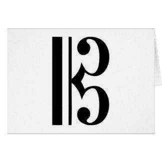 Símbolo de música do C-Clef Cartão Comemorativo