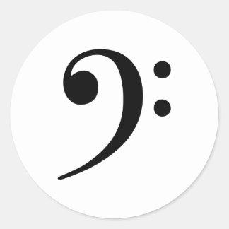 Símbolo de música do Clef baixo Adesivo