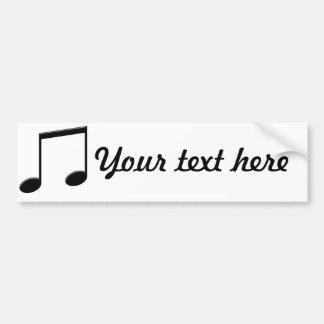 Símbolo de música irradiado da nota adesivo para carro