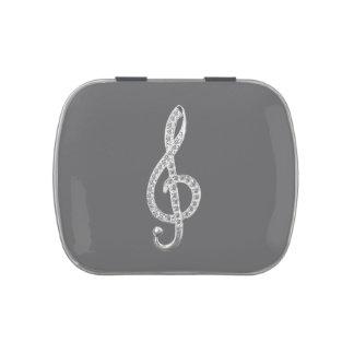 Símbolo de música latinhas para personalizar