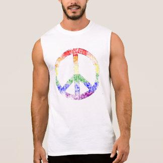 Símbolo de paz afligido do arco-íris regata