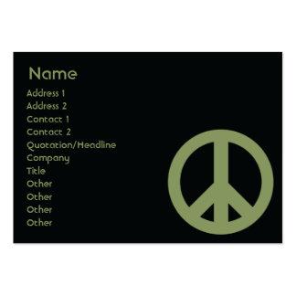 Símbolo de paz - carnudo cartão de visita grande
