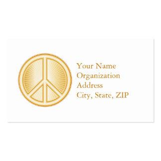 Símbolo de paz cartão de visita
