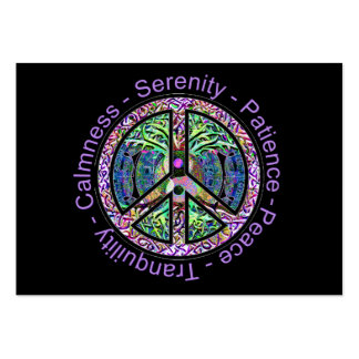 Símbolo de paz com paz, harmonia, equilíbrio cartão de visita grande