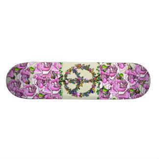 Símbolo de paz da borboleta shape de skate 21,6cm