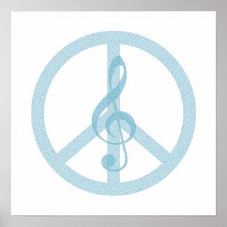 Símbolo de paz da música poster