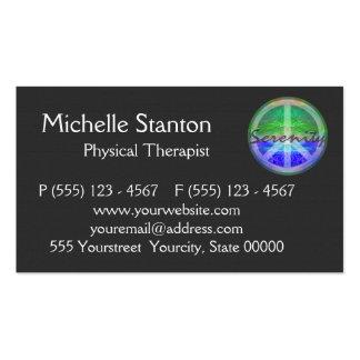 Símbolo de paz da serenidade cartão de visita