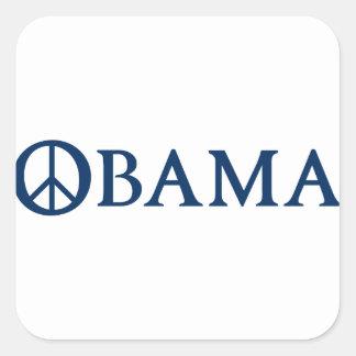 Símbolo de paz de Obama Adesivo Quadrado