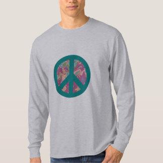 Símbolo de paz de turquesa com camiseta da arte