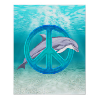 Símbolo de paz do golfinho impressão