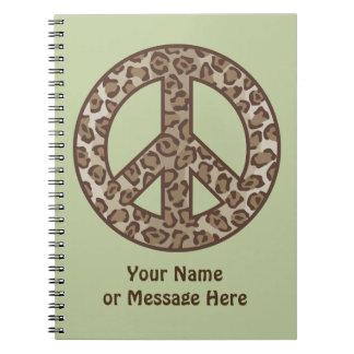 Símbolo de paz do leopardo caderno