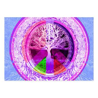 Símbolo de paz em cores do arco-íris cartão de visita grande
