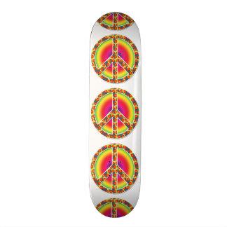 Símbolo de paz floral shape de skate 18,7cm