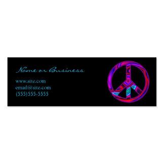Símbolo de paz Funky Cartão De Visita Skinny