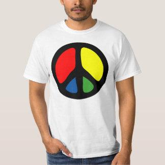 Símbolo de paz Groovy do hippy T-shirt
