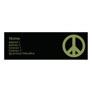 Símbolo de paz - magro cartão de visita skinny