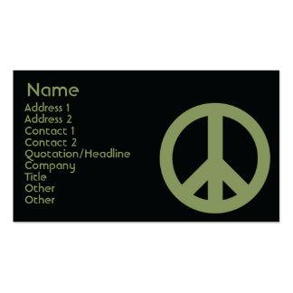 Símbolo de paz - negócio cartão de visita