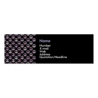 Símbolo de paz (preto) - cartão de visita