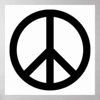 Símbolo de paz preto poster