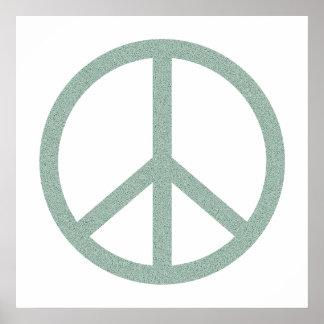 Símbolo de paz verde poster