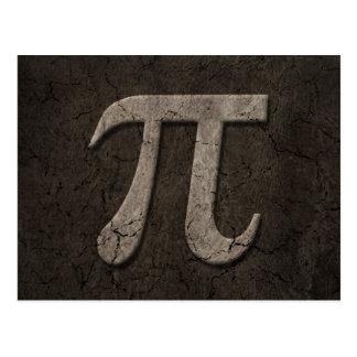 Símbolo de pedra envelhecido da matemática do Pi Cartão Postal