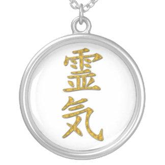 Símbolo de REIKI Colar Banhado A Prata