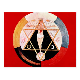 Símbolo de Rosicrucian da ordem Hermetic Cartão Postal