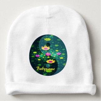 Símbolo de Tiajitu Yin Yang da lagoa de Lotus Gorro Para Bebê