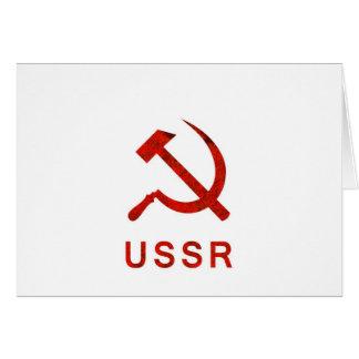 Símbolo de URSS Cartão Comemorativo