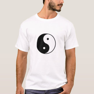 símbolo de yang do yin camiseta