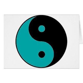 Símbolo de YIN YANG Cartão Comemorativo