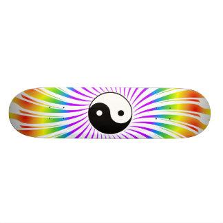 Símbolo de Yin Yang & design espiral: Skate