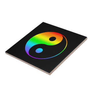 Símbolo de Yin Yang do arco-íris