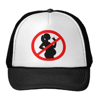 Símbolo do álcool da mulher gravida boné