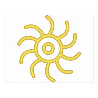 Símbolo do alquimista para o ouro cartão postal
