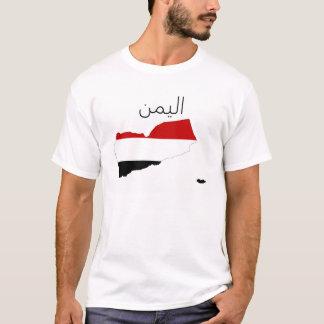 símbolo do árabe da forma do mapa da bandeira de camiseta
