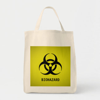 Símbolo do Biohazard (amarelo) Bolsa Tote