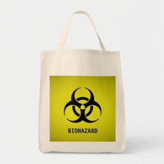 Símbolo do Biohazard (amarelo) Sacola Tote De Mercado