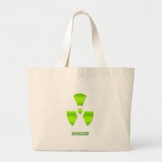 Símbolo do Biohazard com palavra Sacola Tote Jumbo