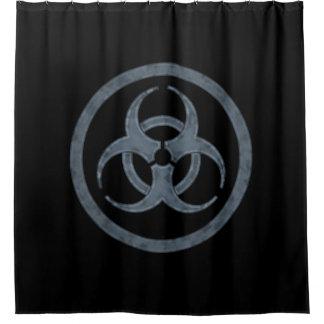 Símbolo do Biohazard Cortina Para Box