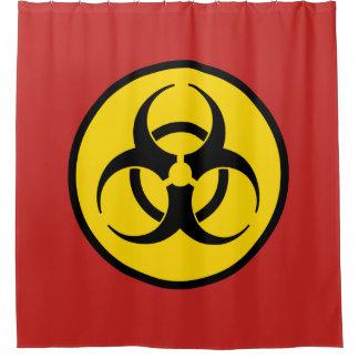 Símbolo do Biohazard Cortina Para Chuveiro