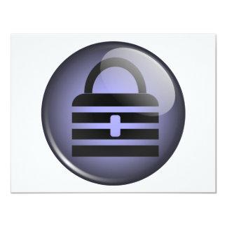 Símbolo do botão de Keypass Convite 10.79 X 13.97cm