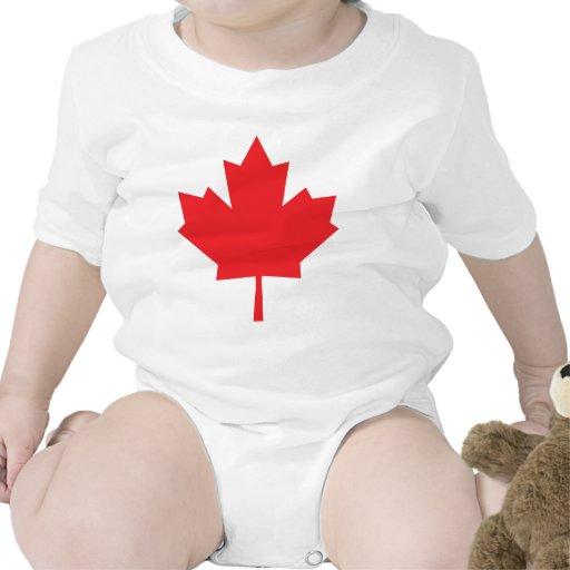 Símbolo do canadense da folha de bordo de Canadá Macacãozinhos Para Bebê